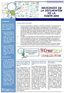 Novedades para la Declaración de la Renta 2013