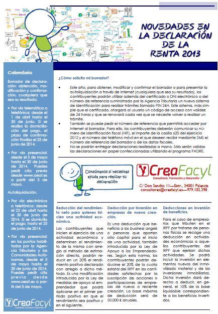 Novedades_Declaracion_Renta_2013 Creafacyl