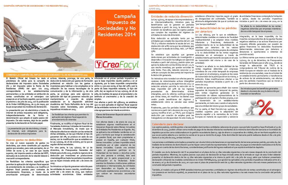 Comienza la Campaña del Impuesto sobre Sociedades y del Impuesto sobre la Renta de No Residentes 2013