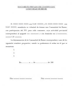 Documento privado Constitucion Bienes Creafacyl