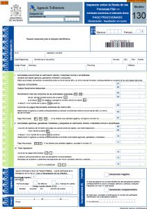 Modelo 130 - Impuesto sobre la renta de las personas fisicas Creafacyl