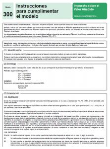 Modelo 300 - Impuesto sobre el Valor Añadido Creafacyl