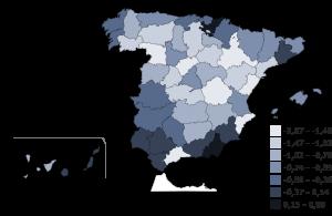Evolución población provincial 2014