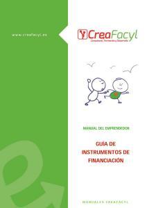 Guía de instrumentos de financiación