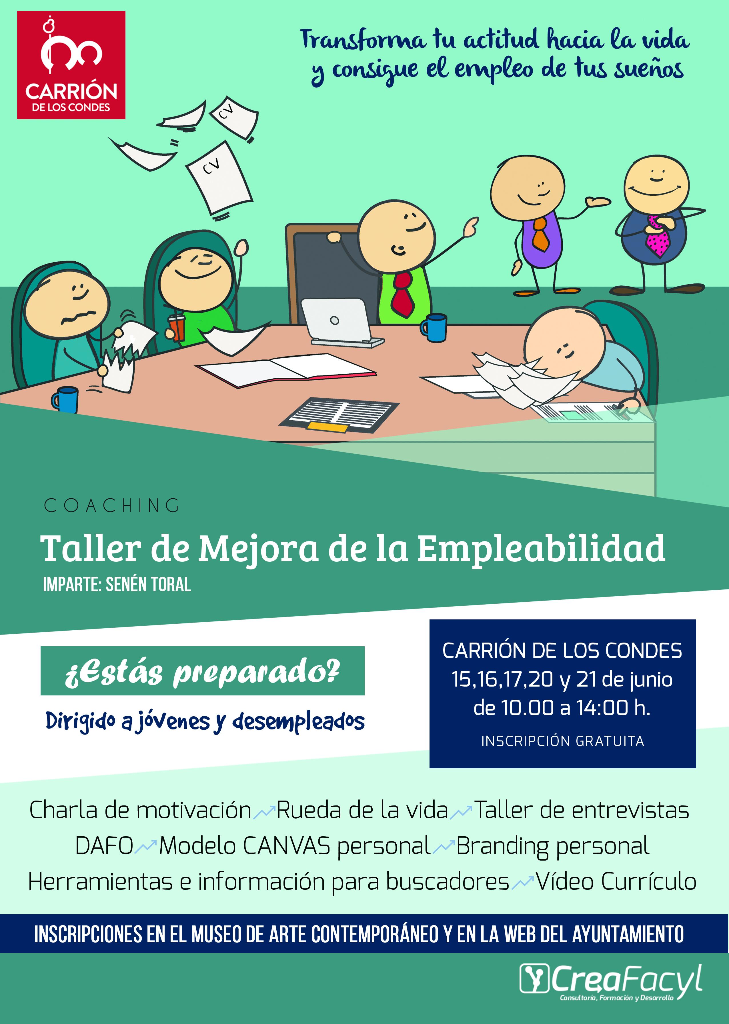 Taller gratuito de mejora de la empleabilidad en Carrión de los Condes