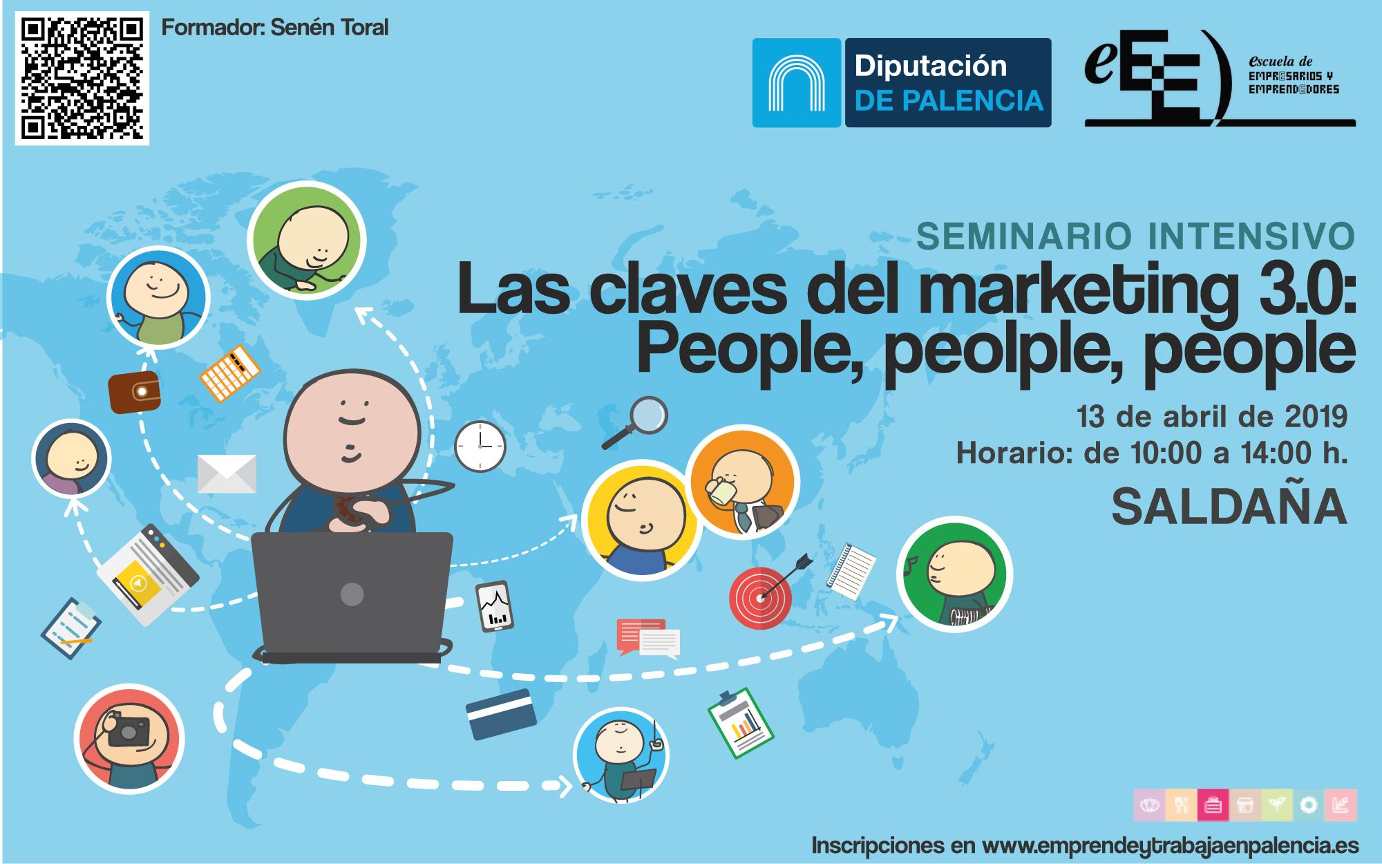Descubre 'las claves del marketing 3.0', el próximo 13 de abril en Saldaña